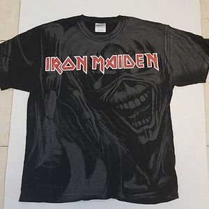 Hanes T-Shirt Iron Maiden Adult Lg 42-44